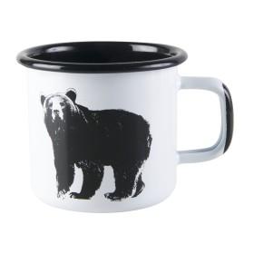 Muurla, Nordic, Enamel Mug, Bear 0,37l