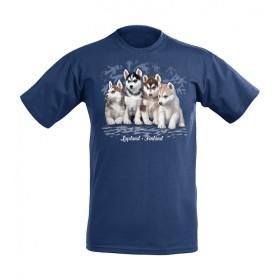 Mikebon, Husky-Welpen, T-Shirt für Kinder, dunkelblau