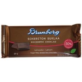 Brunberg, Zuckerfreie Schokolade 50% mit Stevia 50g