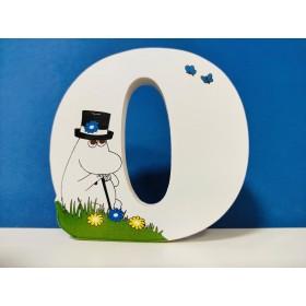 Isoisän Puulelut, Moomin, Wooden Letter 10cm - O