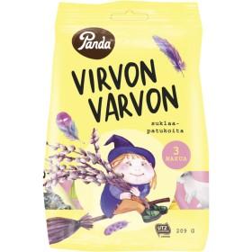 Panda, Virvon Varvon, Assorted Milk Chocolate Foam Nougat Bars 209g