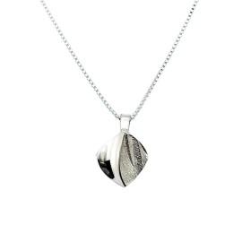 Sirokoru, Blatt, Öko-Silberanhänger mit Silberkette -FRÜHLINGS-SPECIAL