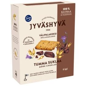 Fazer, Jyväshyvä välipalakeksi tumma suklaa, 100% Hafer-Snack-Kekse mit dunkler schokolade (6Stk) 180g